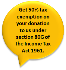 50% Tax exemprion.